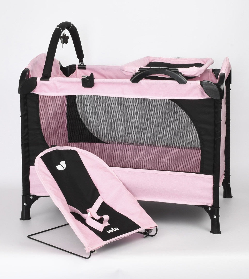 Joie Junior Excursion Dolls Travel Cot And Baby Bouncer Platset