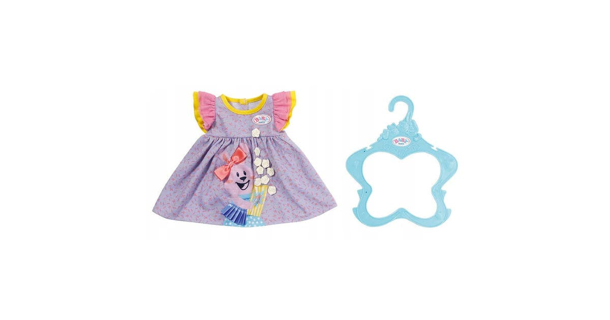 Baby Born Dress Outfit 43cm Purple