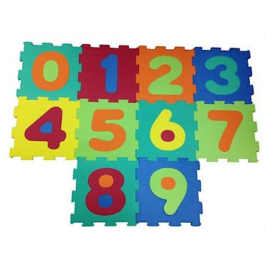 Little Hero 0-9  Large Foam Puzzle Mats