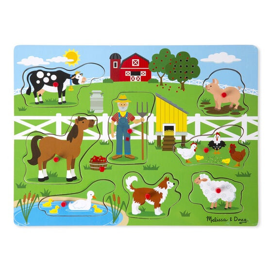 Melissa & Doug See And Hear Sound Puzzle Old Mac Donald's Farm