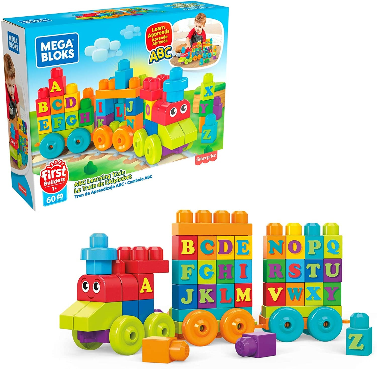 Mega Bloks Learning Train