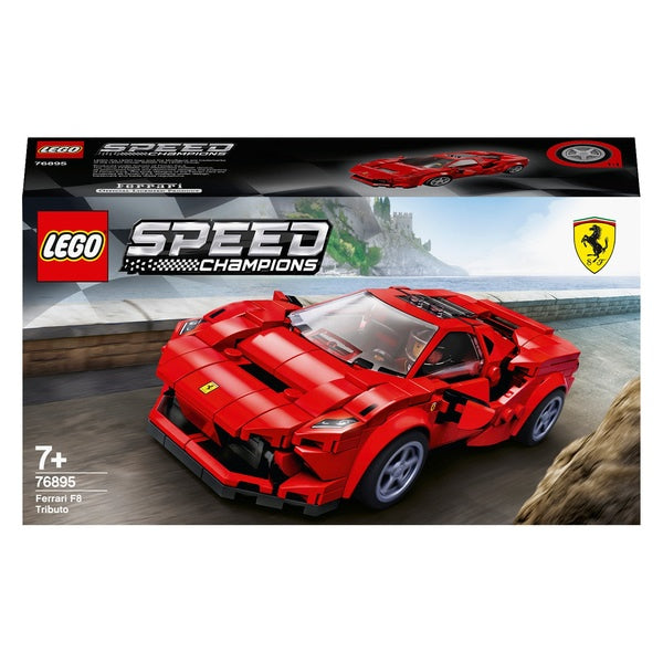 Lego Speed Champions 76895 Ferrari F8 Tributo Race Car Set