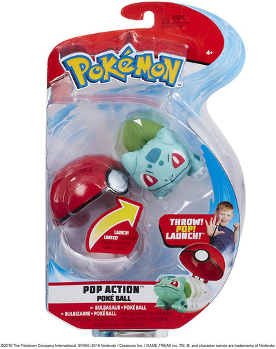 Pokemon Pop Action Pokeball Bulbasaur And Pokeball
