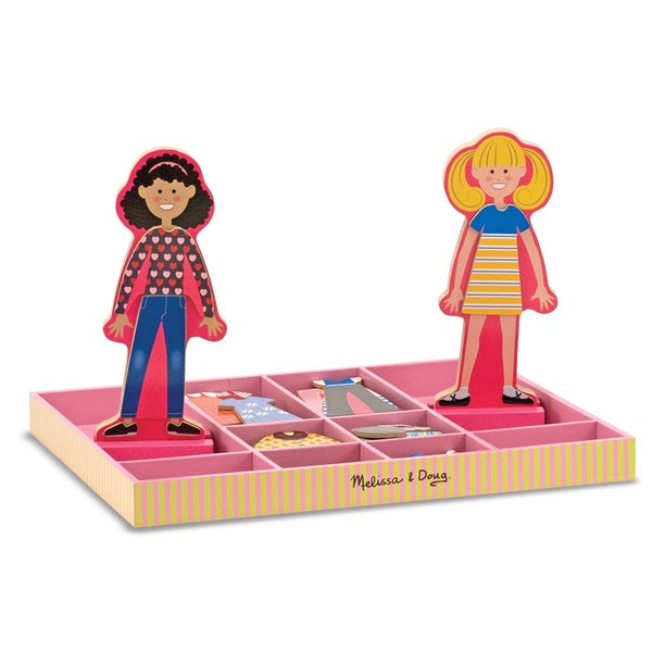 Melissa & Doug Abby & Emma Magnetic Dress Up Dolls