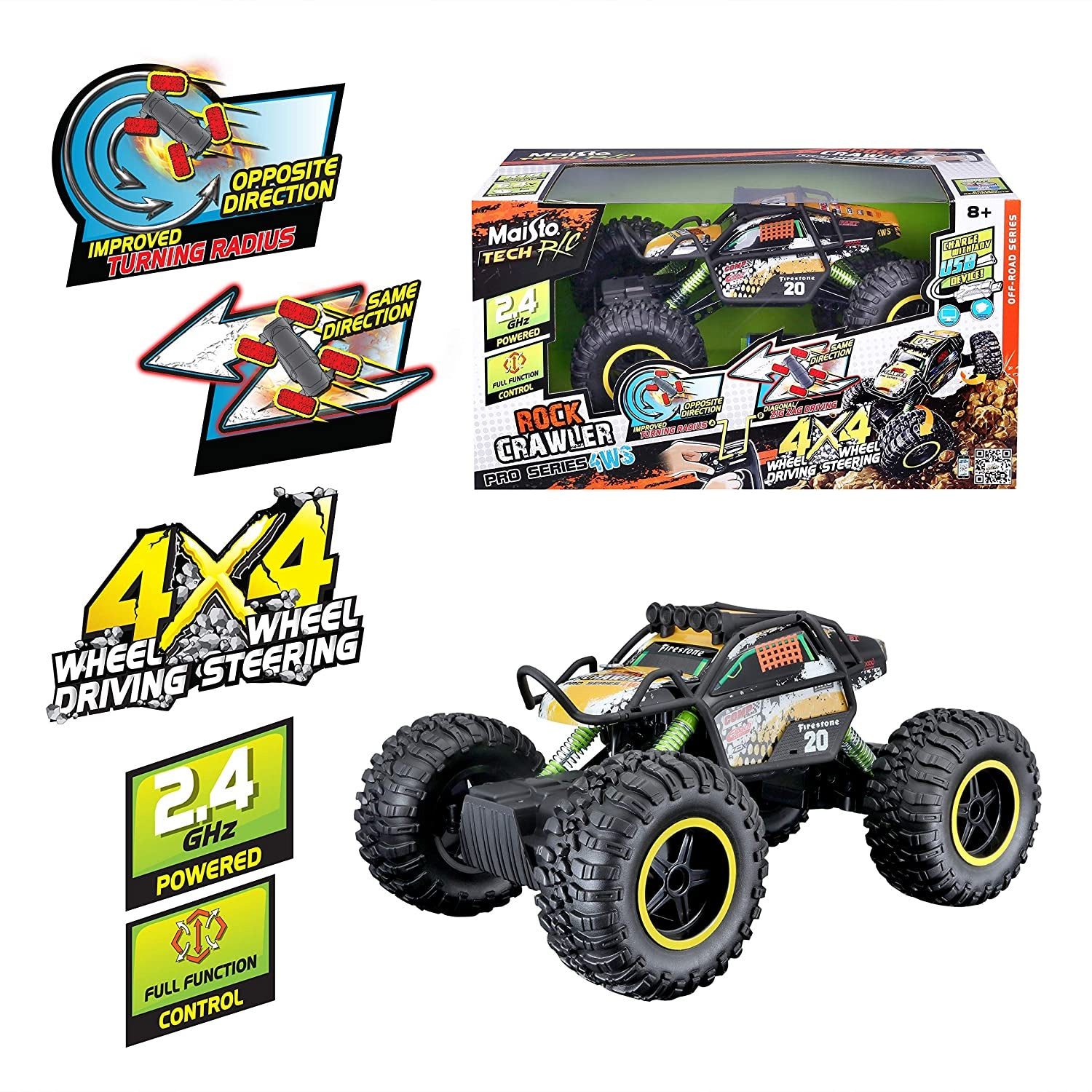 Maisto Rock Crawler Pro Series 4WS Remote Control Vehicle