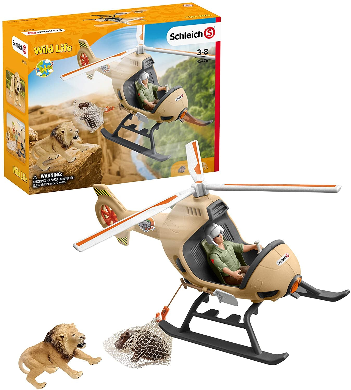 Schleich Wild Life 42476 Animal Rescue Helicopter Playset