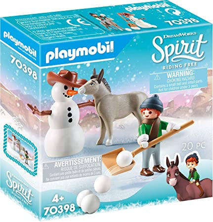 Playmobil Dreamworks Spirit 70398 Snow Time With Snips And Senor Carrots