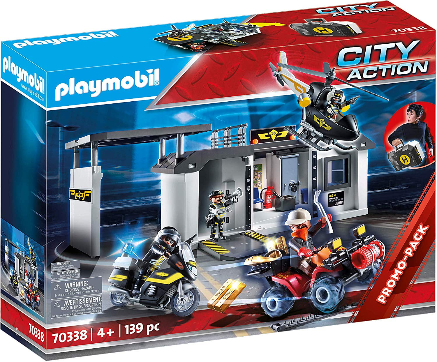 Playmobil Fire Station /& Alarm City Action 139pc 5361