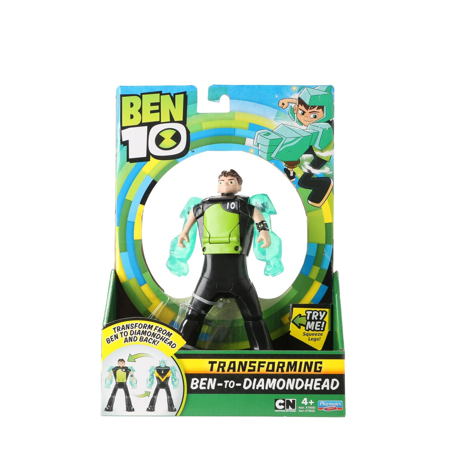 Ben 10 Transforming Figure Ben To Diamondhead