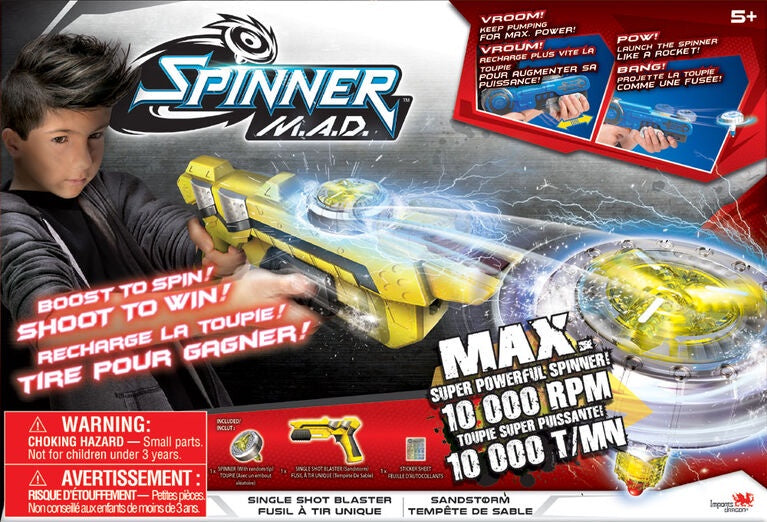 Spinner M.A.D Single Shot Blaster Sandstorm