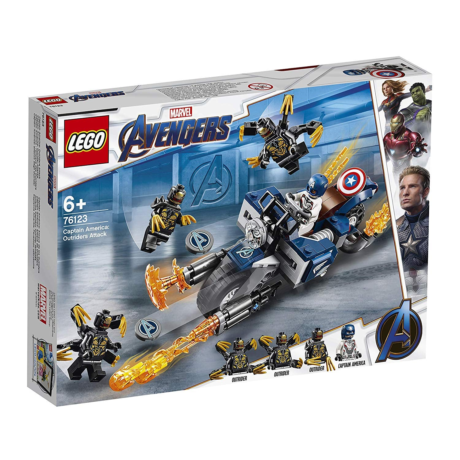 Lego Marvel Avengers 76123 Captain America : Outriders Attack