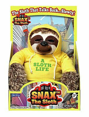 Snax The Sloth Soft Toy