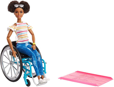 Barbie Doll And Wheelchair Brunette