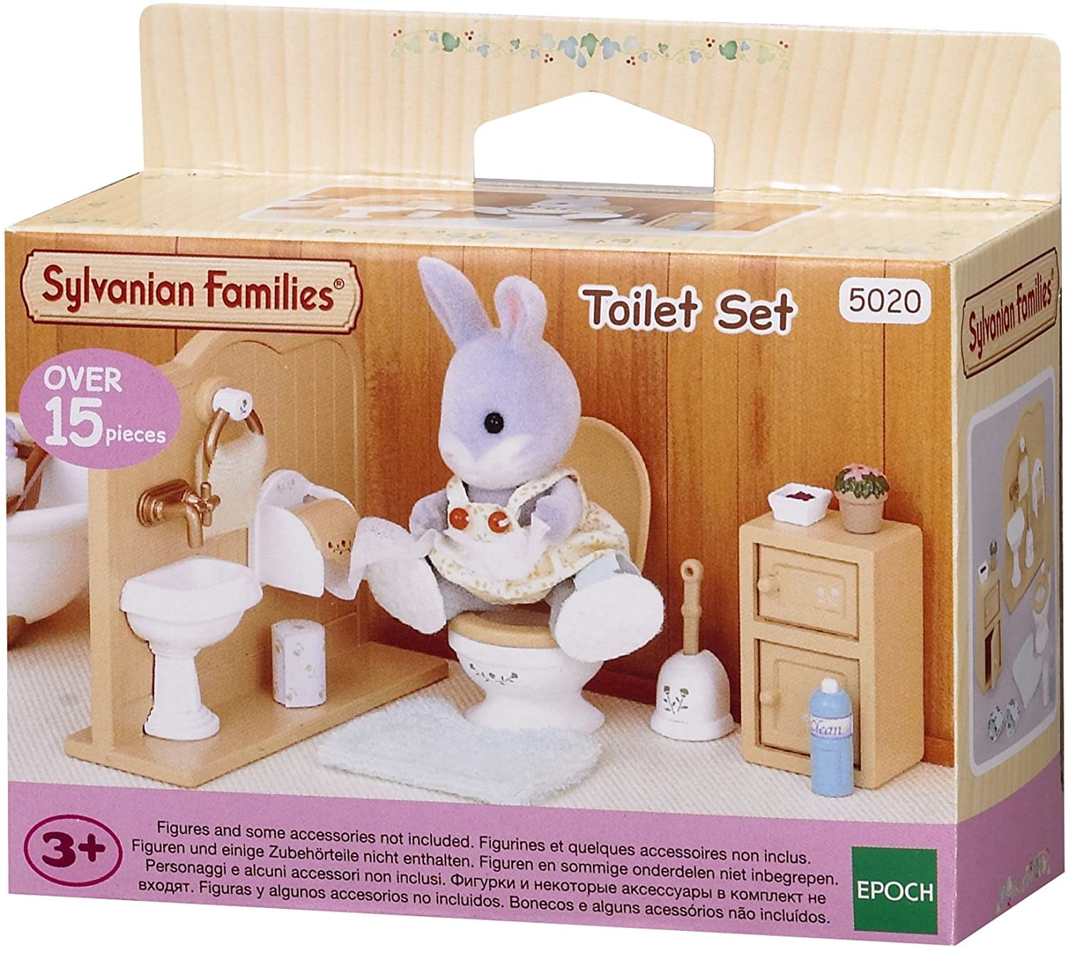 Sylvanian Families 5020 Toilet Set 15pc Accessory Set