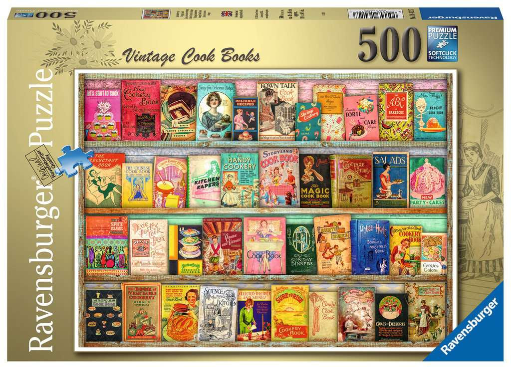 Ravensburger Vintage Cookbook 500pc Jigsaw Puzzle