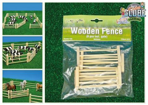 Kids Globe Farm  Wooden Fencing 6 Pack 1:32