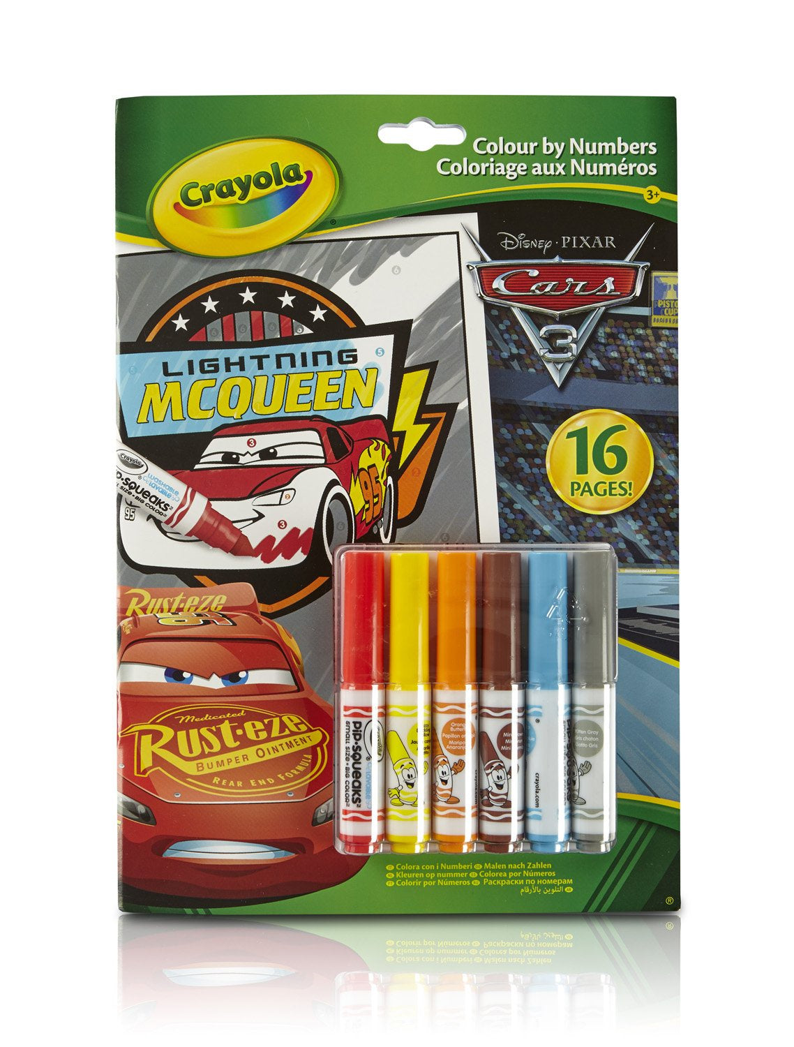Crayola Disney Cars 3 Colour by Numbers Colouring Book