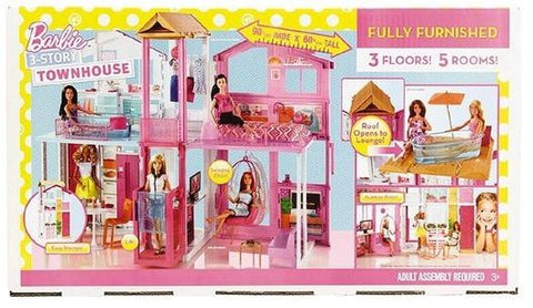 Barbie Fully Furnished 3 Storey Town House