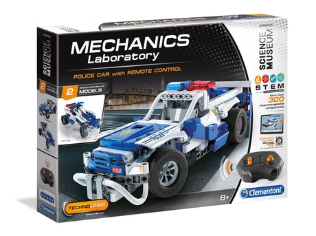 Clementoni Science Museum Mechanics Lab Police Car with Remote Control