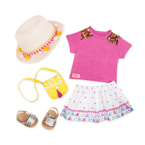 Our Generation Vacation Style Clothing Set