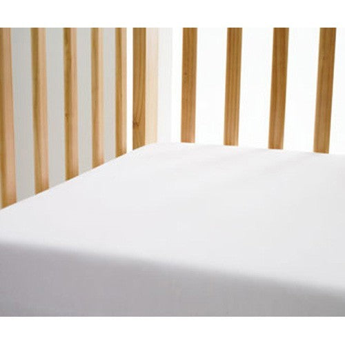 Cot Bed Fitted Cotton Sheet 140x70 - White
