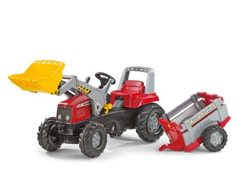 Rolly Junior Tractor with Front loader and Farm Trailer