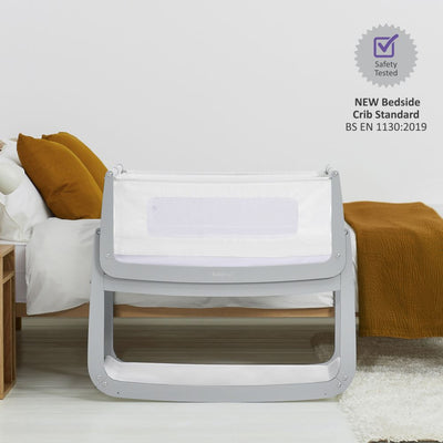 SnuzPod4 Bedside Crib - Dove Grey