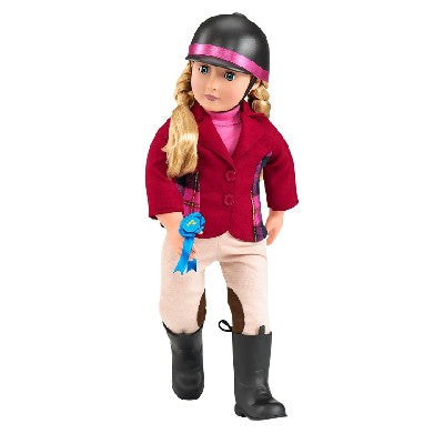 "Meet Lily Anna! Our Generation Riding Doll Lily Anna is quiet, loyal and loves horses. She's always happy when she's riding a horse. Lilly-Anna practices riding, so she can enter competitions. Lily-Anna loves making and selling lemonade for charity as well as spending time with her family and her closest friends. ""We are a generation of talent. The more talent you learn the more places you will go. We believe with all our heart that we will achieve our dreams."" – ..."
