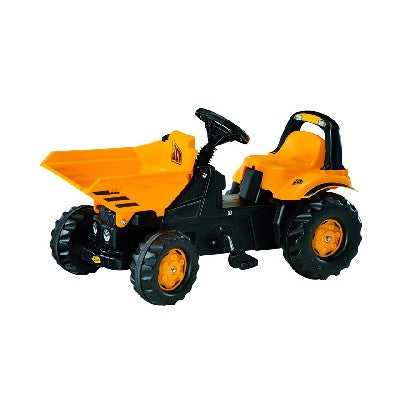 JCB Dumper *Grippy all terrain wheels *Fully functional front loader *Comfortable seat *Easy grip steering wheel *Fully enclosed drive chain that can be adjusted externally *Assembled Dimensions- 93Lx44Wx52Hcm *Suitable For Ages 3+