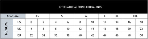 Text - ARIAT INTERNATIONAL SIZING EQUIVALENTS