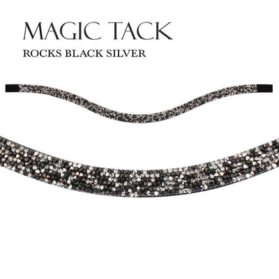 STUBBEN MAGIC TACK INLAY LONG CURVED - Rocks Black - Silver