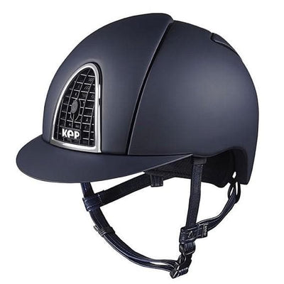 KEP ITALIA CROMO TEXTILE BLUE HELMET[Buy High Quality Equestrian Products Online] - HorseworldEU.com