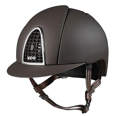 Kep Italia Cromo Textile Brown Helmet [Buy High Quality Equestrian Products Online] - HorseworldEU.com