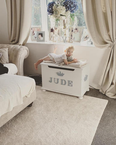 Luxury Toy Box With Indvidual Times Font Letter Name