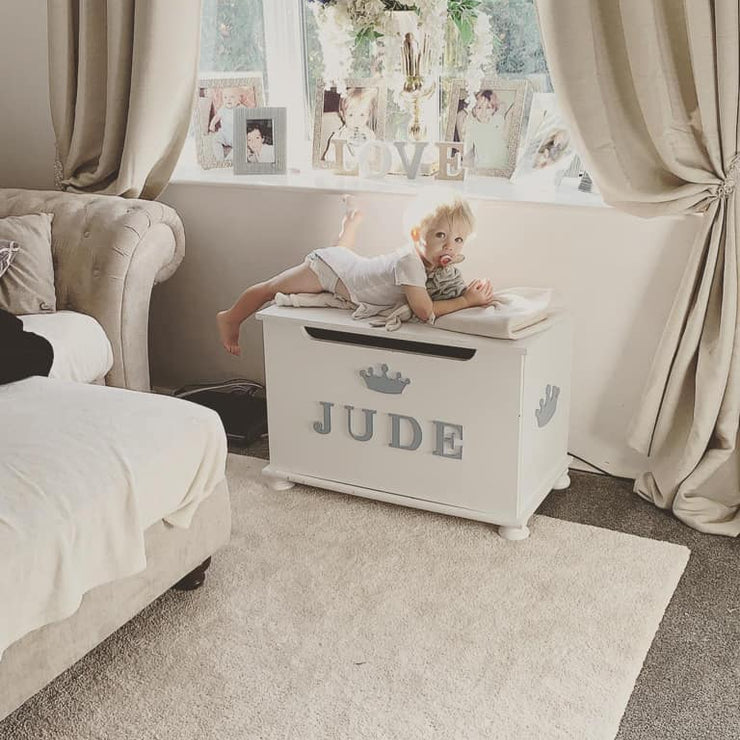 Luxury Engraved Toy Box With Indvidual Letter Name