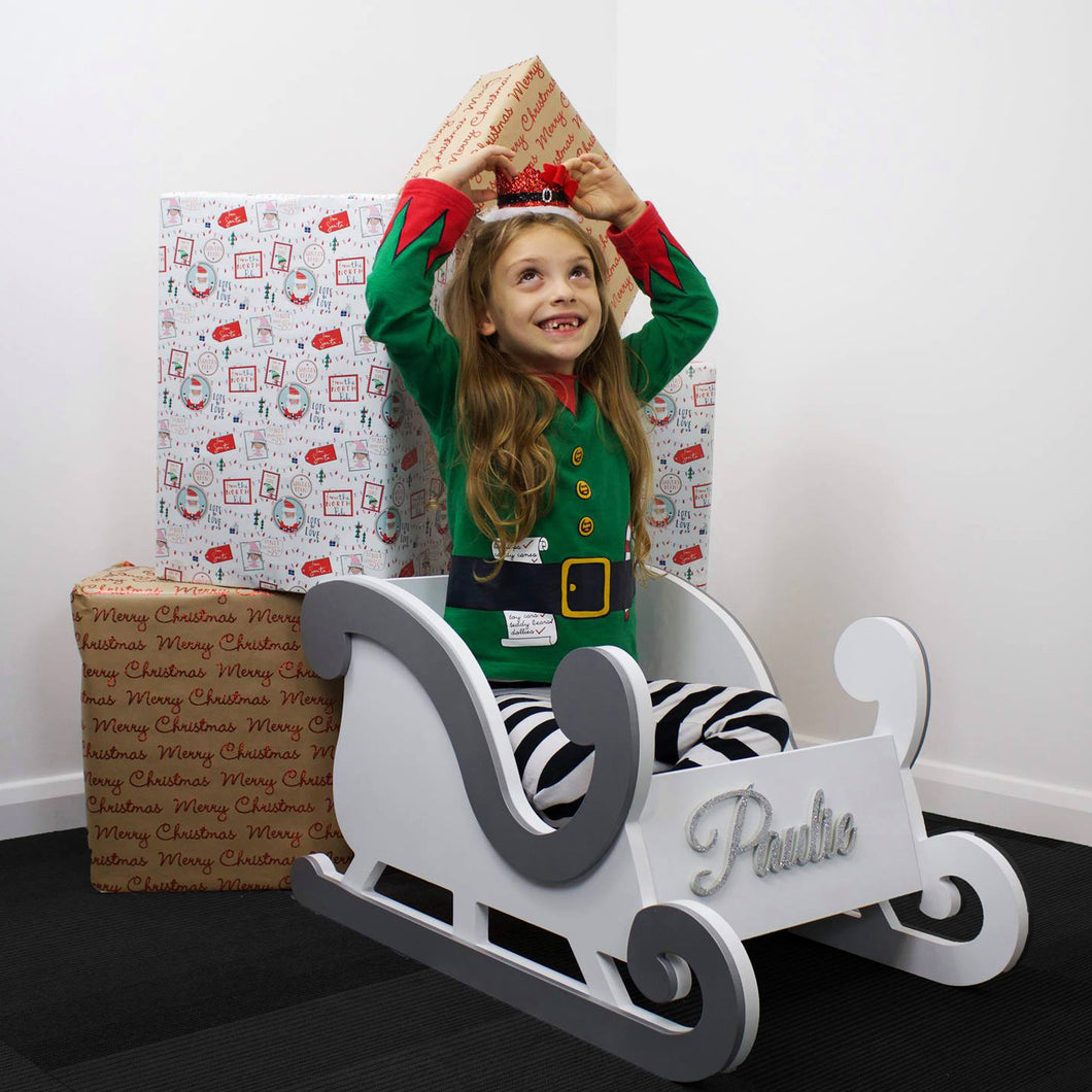 Sleigh with 3D Name - Large Size