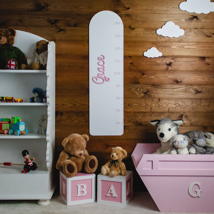 Personalised Height Chart with Round Top