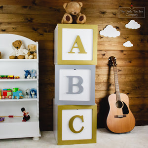 Alphabet Storage Cubes
