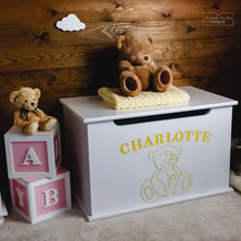 Load image into Gallery viewer, Luxury Engraved Teddy Bear Toy Box