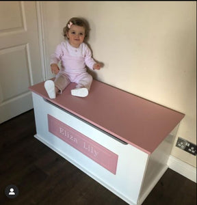 Luxury Toy Box With Engraved Plaque