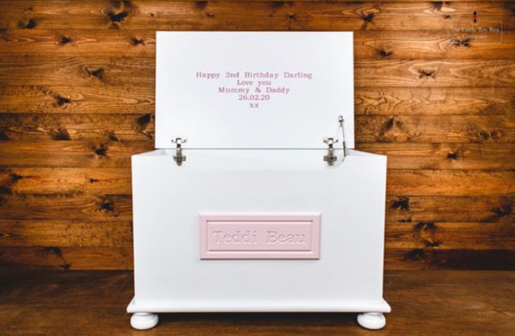 Luxury Engraved Toy Box With Engraved Plaque