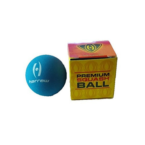 Harrow Squash Doubles Hard Ball - Blue/Red Dot - SDA - Case of 12
