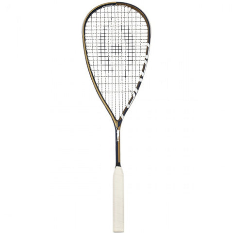 Harrow Turbo Squash Racquet, Jonathon Power Signature Edition - Navy/Vegas Gold