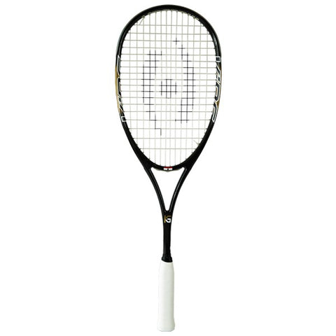 NEW - HARROW VIBE SQUASH RACQUET - KARIM ABDEL GAWAD CUSTOM - BLACK/VEGAS GOLD