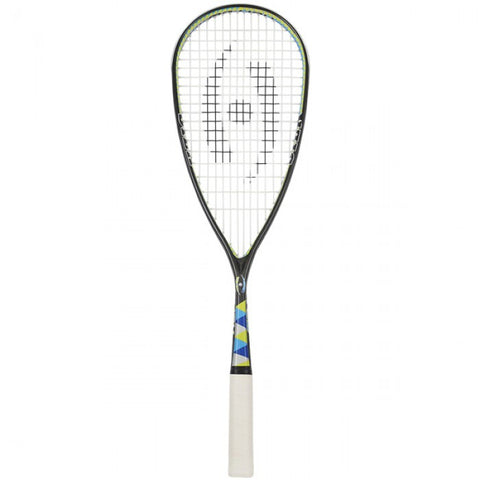 Harrow Silk Squash Racquet - Black/Blue/Lime