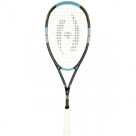 Harrow Stealth Squash Racquet - Black/Carolina/Grey
