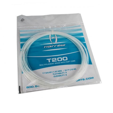 T200 Squash String - 17 Gauge - Single Pack - Crystal