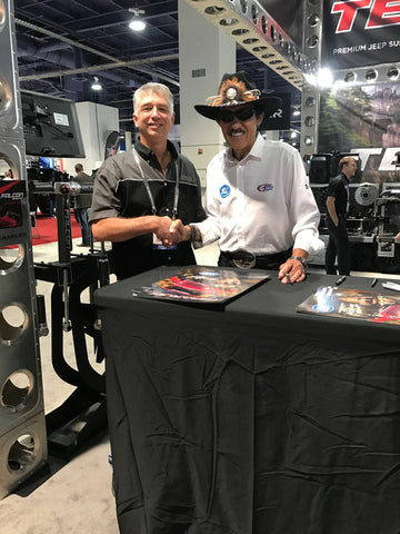 Andy & Richard Petty at the 2016 SEMA show.