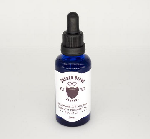 New Product Alert! Rosemary and Bourbon Growth promoting Beard Oil.