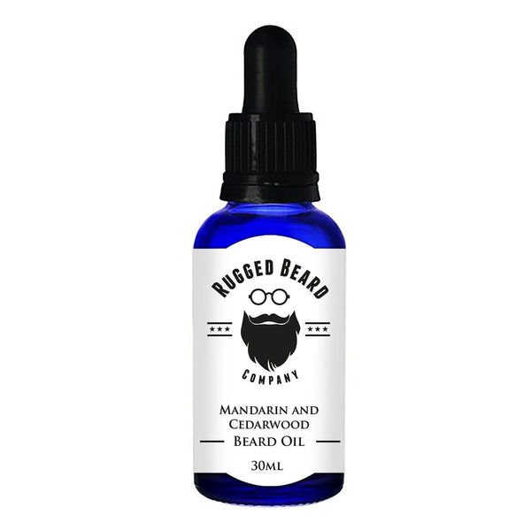 Mandarin and Cedarwood Beard Conditioning Oil - The Rugged Beard Company